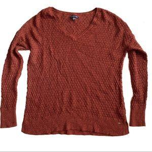 American Eagle burnt orange sweater